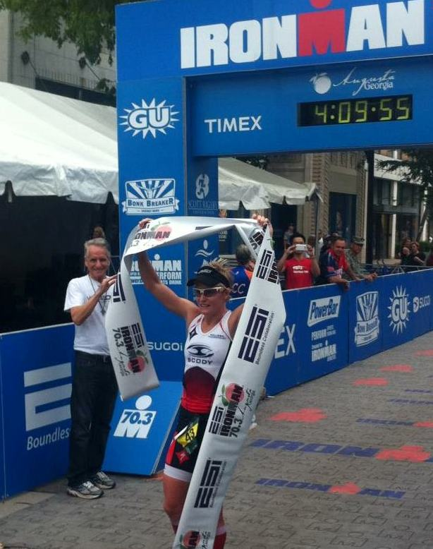 Melissa breaking the winners tape yet again - Photo Credit: Clyde Max Watts