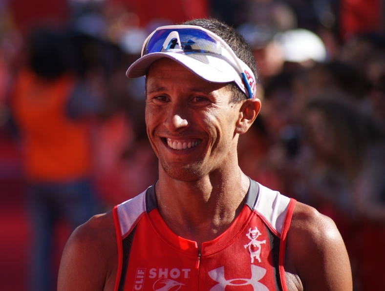 Macca's winning smile at Challenge Cairns 2011