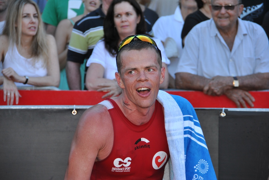 Jimmy after taking 3rd at Ironman Cairns 2012