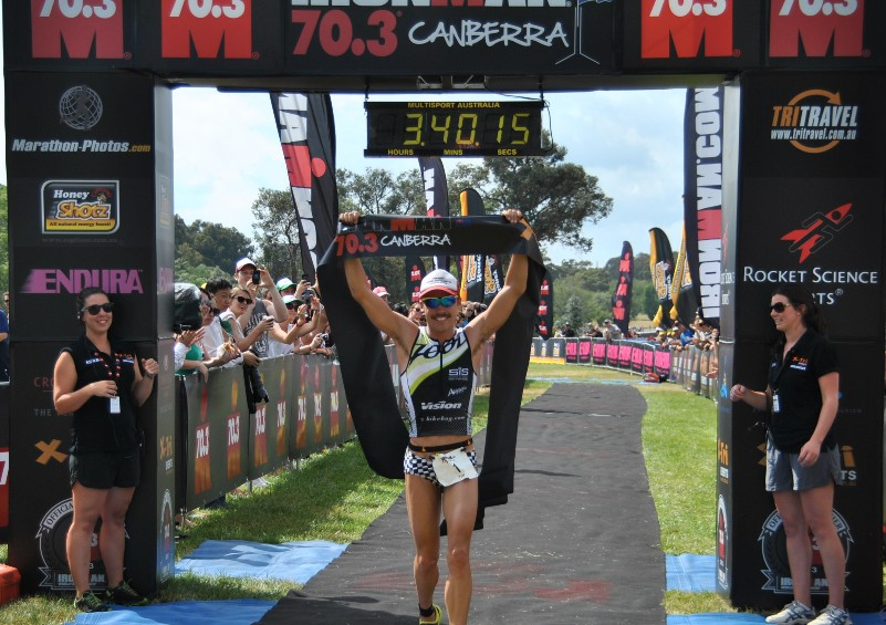 Canberra 70.3 in 2012 was a sweet win for Tim Reed.