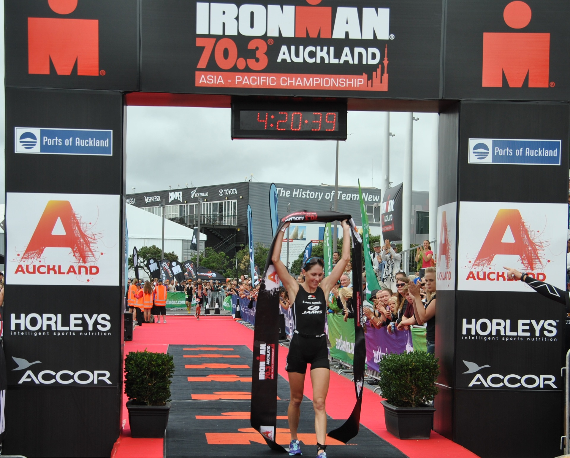 Annabel's second win from her third start in long course triathlons