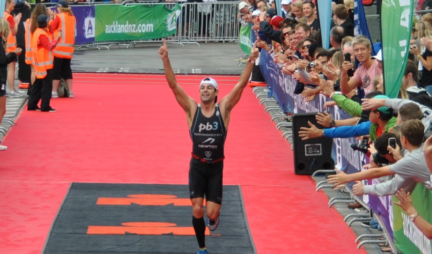 Celebrating a sweet victory at Ironman 70.3 Auckland