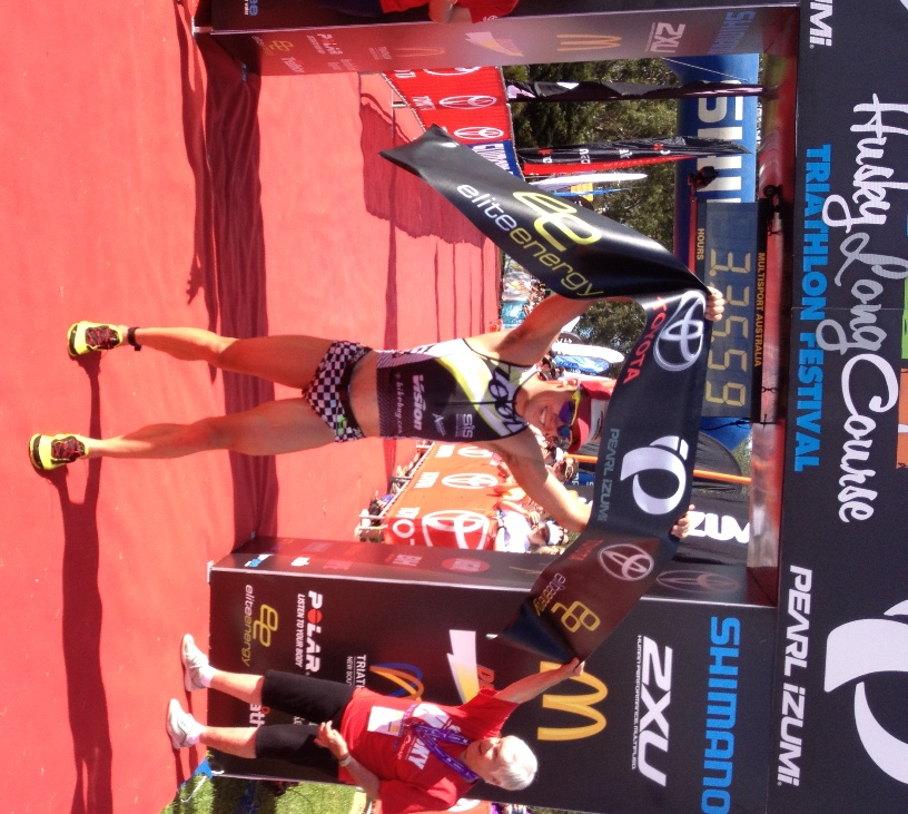 Tim Reed celebrates another long course triathlon win