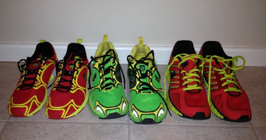 Johan's shoe selection get rotated during the week