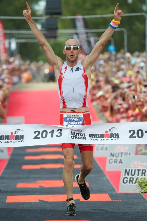 Bevan Docherty wins in his first attempt at Ironman - Credit: Daryl Carey