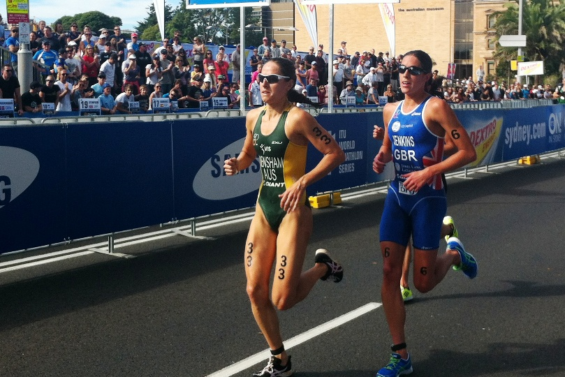 On her way to a win at the Sydney ITU World Cup race in 2012