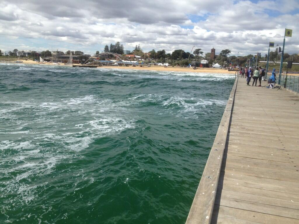 Windy conditions at Ironman Melbourne