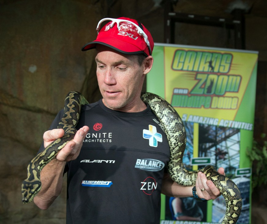 Cam getting up and close with the some locals in Cairns