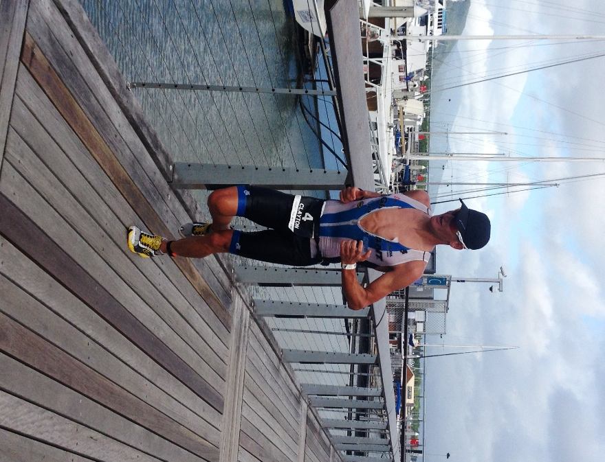 Clayton Fettell getting home at Ironman Cairns