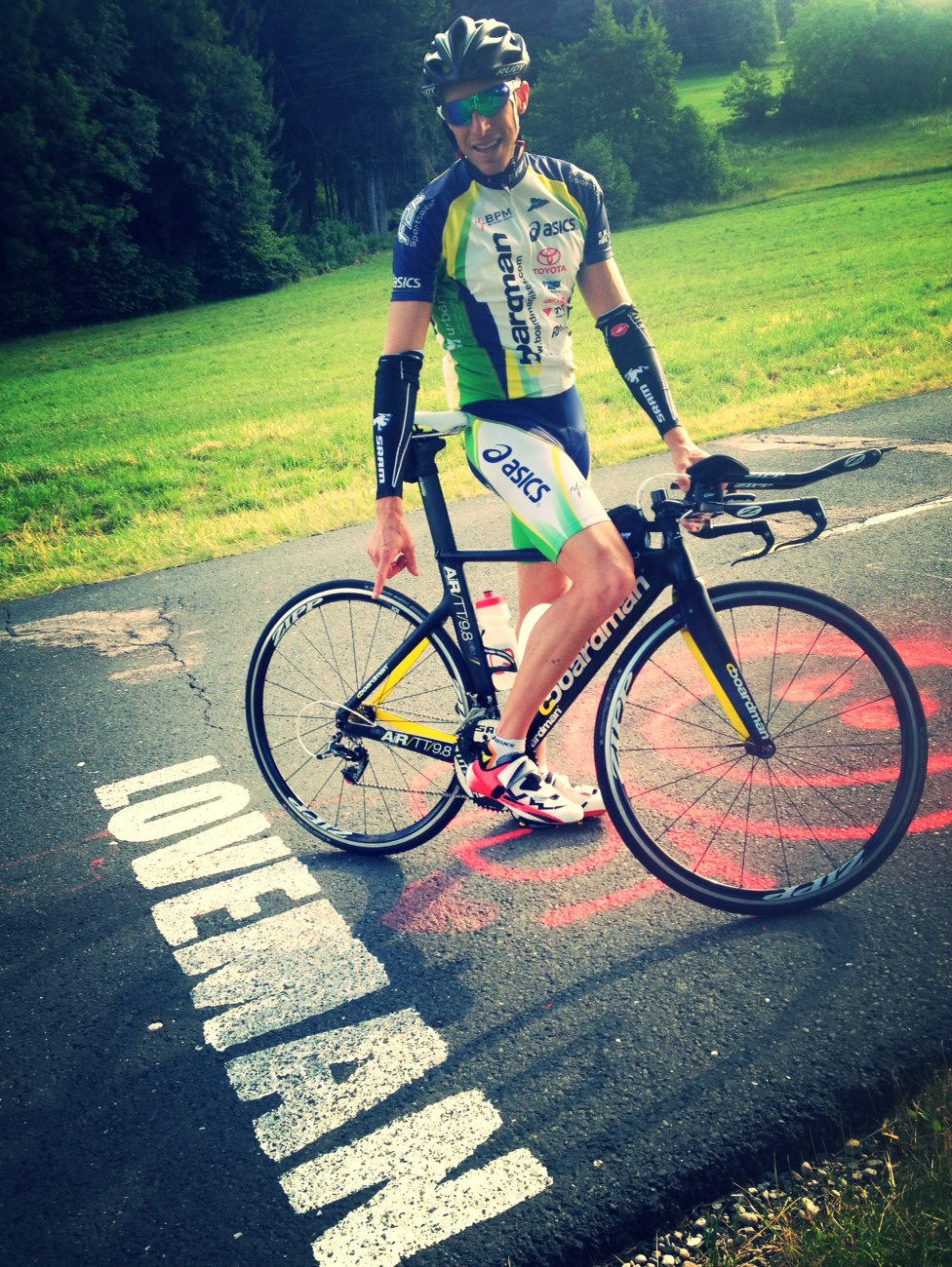 Pete Jacobs found a bit of inspiration on the Ironman Austria course last week