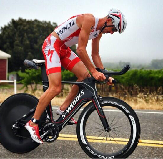 Bevan Docherty in action on the cycle - Photo Credit: Eric Larson
