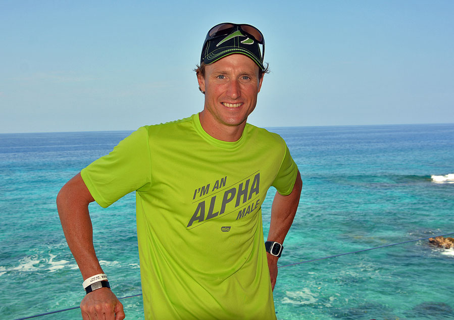 Chris Legh in Kona and only days away from his last race here.
