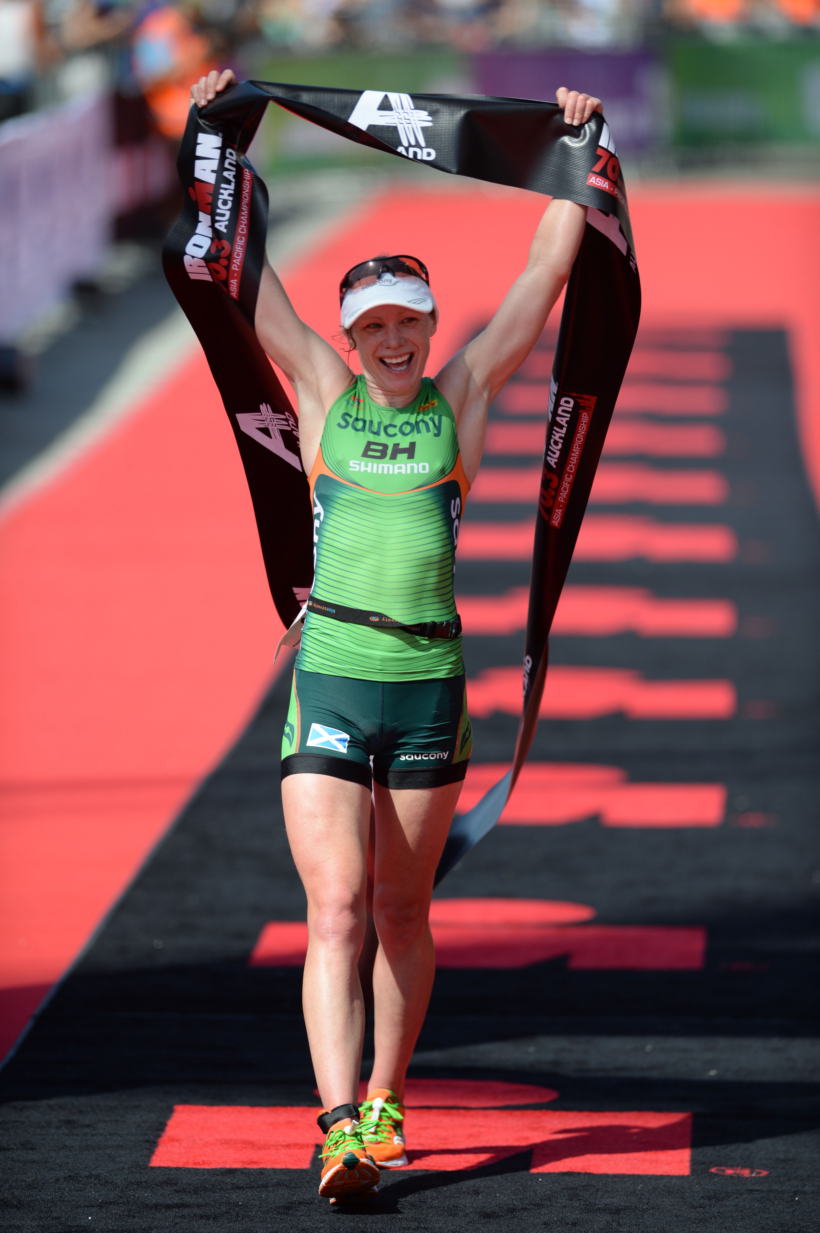 Catriona Morrison 1st , 2014 Ironman 70.3 Auckland, Auckland New Zealand, January 19 2014. ©Delly Carr / Sportshoot. Pic credit mandatory for free usage. Thank you.