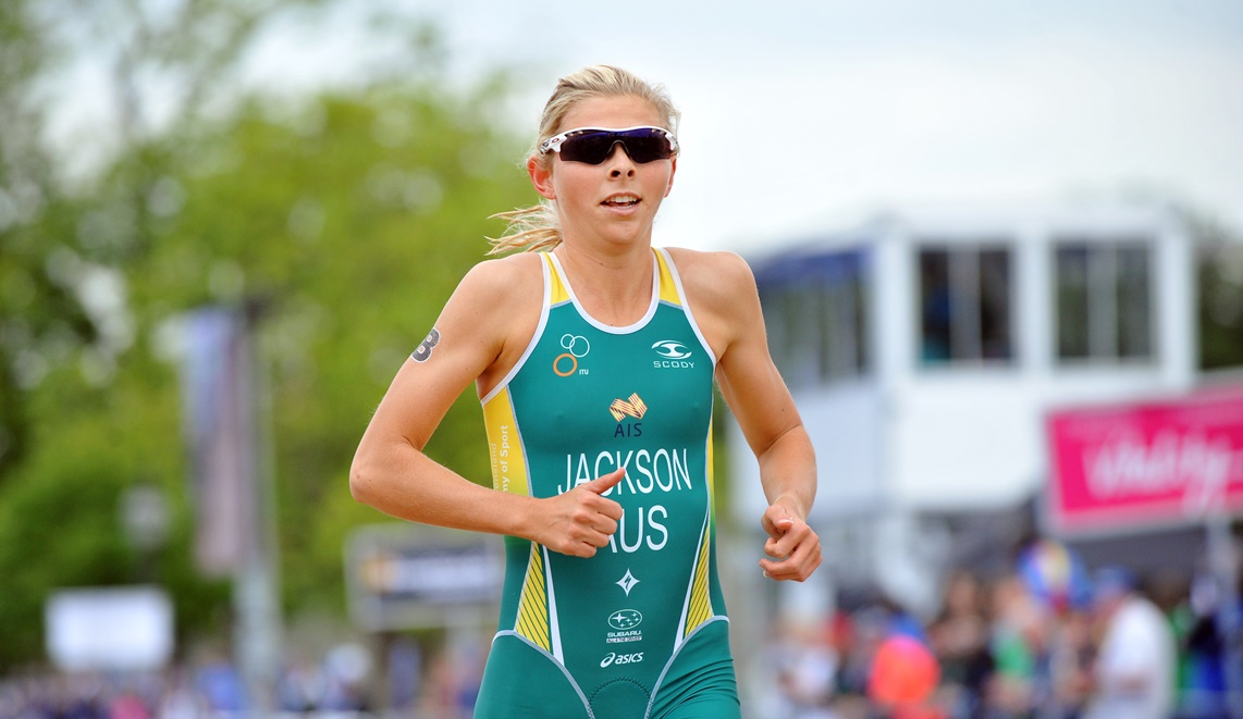Emma Jackson finishes 3rd at the 2014 London round of the WTS