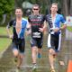 The three leaders on to the run - Photo Credit: Delly Carr / Ironman.com