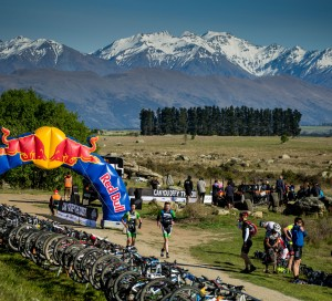 Team Swordfox (Rikki Griffin & Rob Rush) transitioning at the Red Bull Defiance Adventure Race in Wanaka, NZ