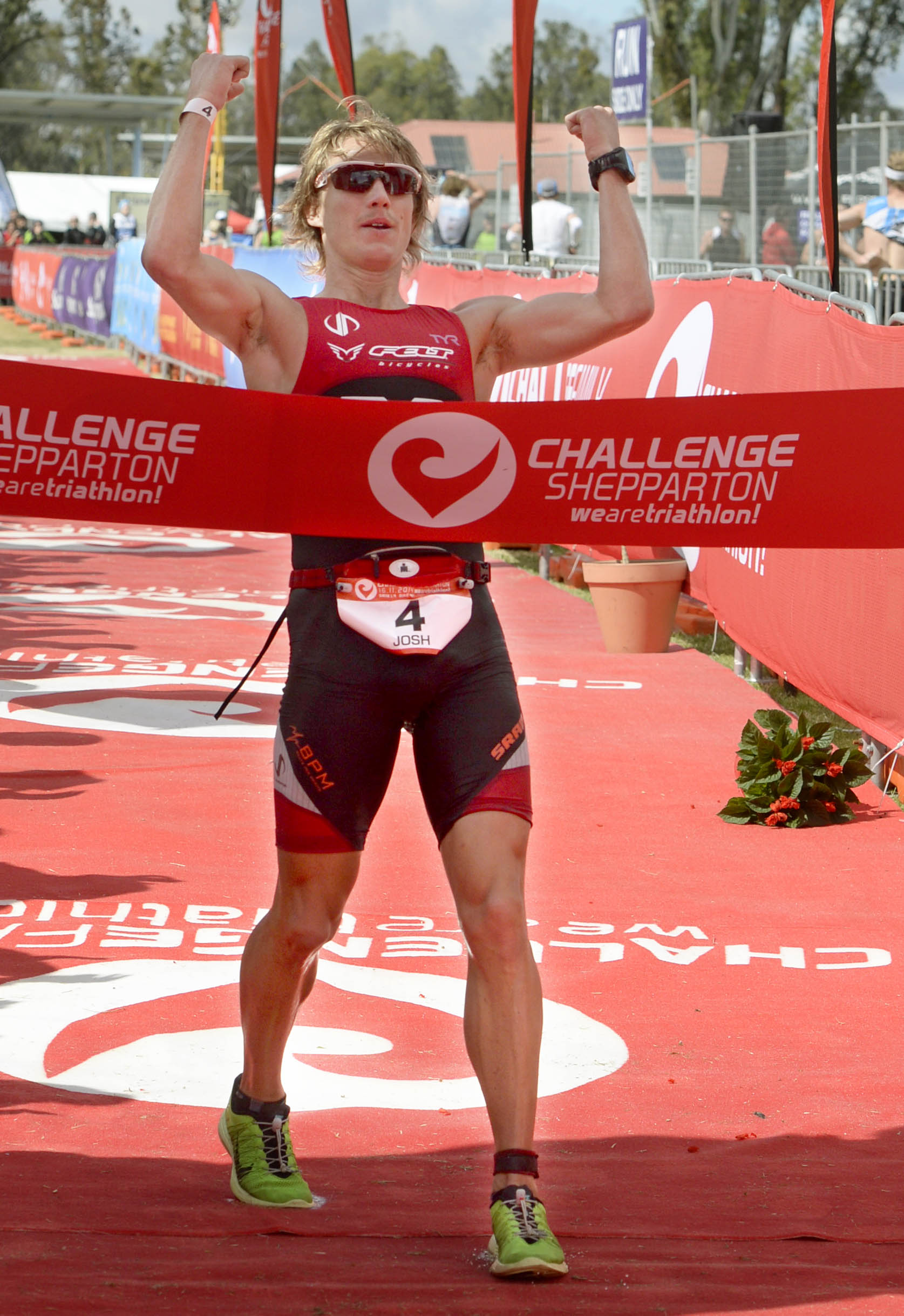 Josh Amberger added another victory to his resume today in tough conditions at Challenge Shepparton. Image credit: Julie Mercer / Shepparton News