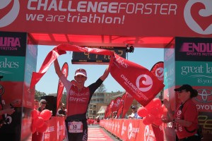 Liz Blatchford led wire to wire in Forster today