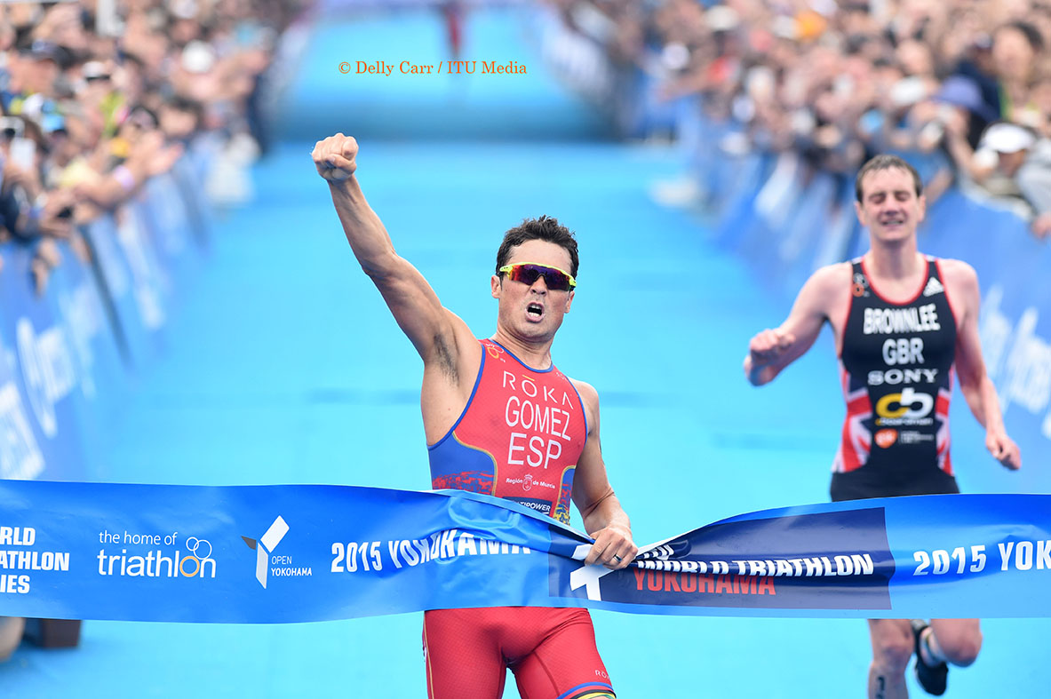 Javier Gomez takes one of the best finishes ever in ITU - Photo Credit: Delly Carr / Triathlon.org