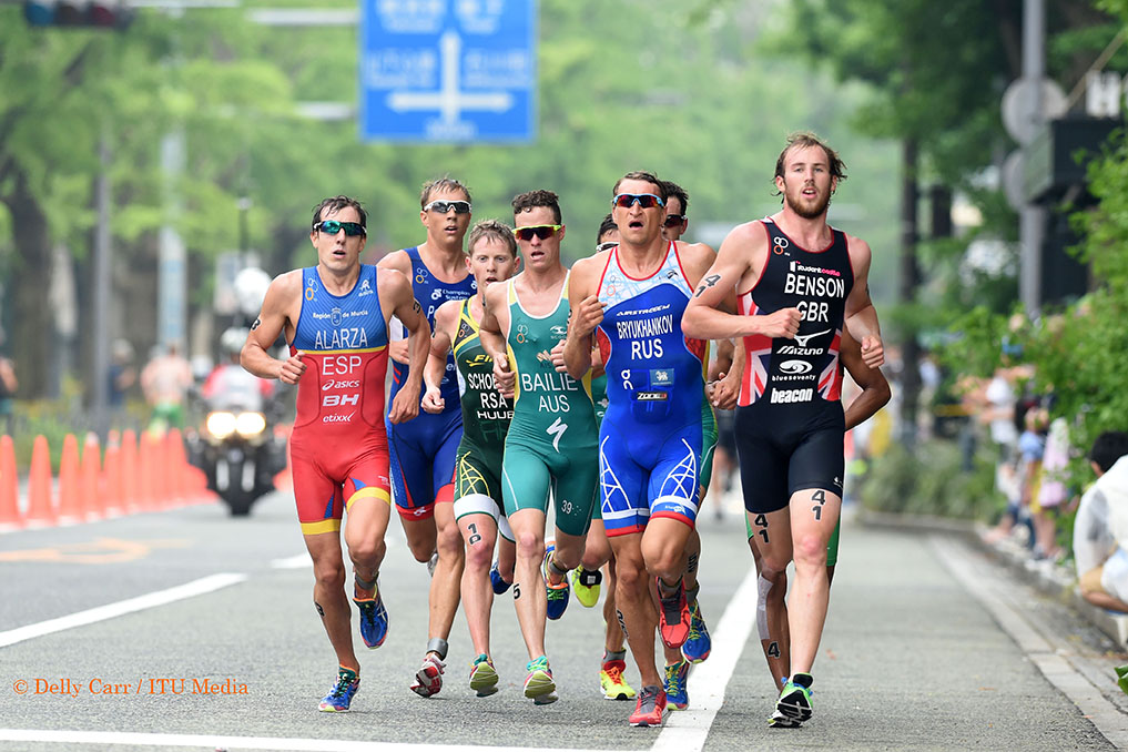 Ryan Bailie was never far from the front - Photo Credit: Delly Carr / Triathlon.org