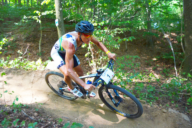 Ben Allen on the way to a win at  the XTERRA Czech Championship