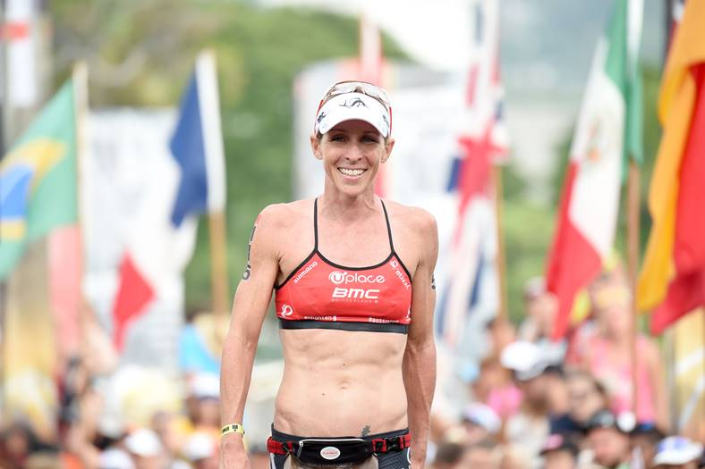Liz Blatchford was very happy with her 3rd place after 10th in 2014 - Photo Credit: Delly Carr/Ironman.com
