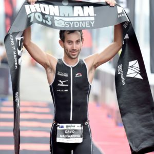 David Mainwaring takes his maiden 70.3 win - Photo Credit: Delly Carr / Ironman.com