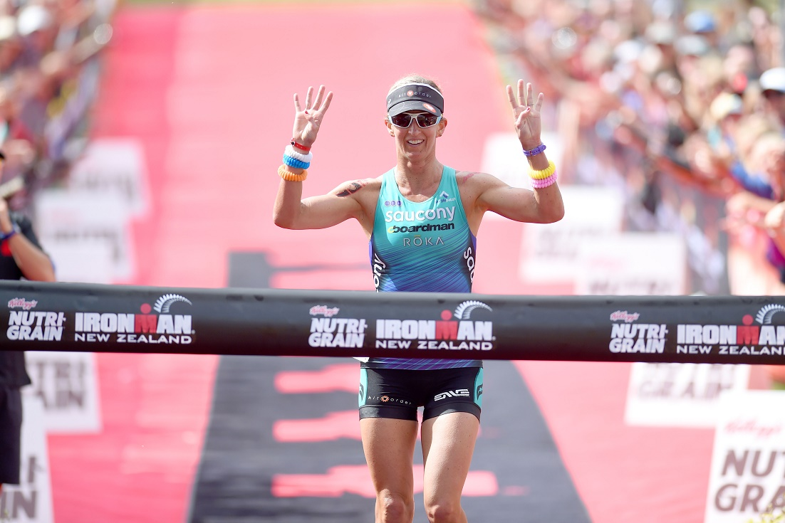 Meredith Kessler victorious at Ironman Taupo 2015 - Photo Credit: Delly Carr / Ironman