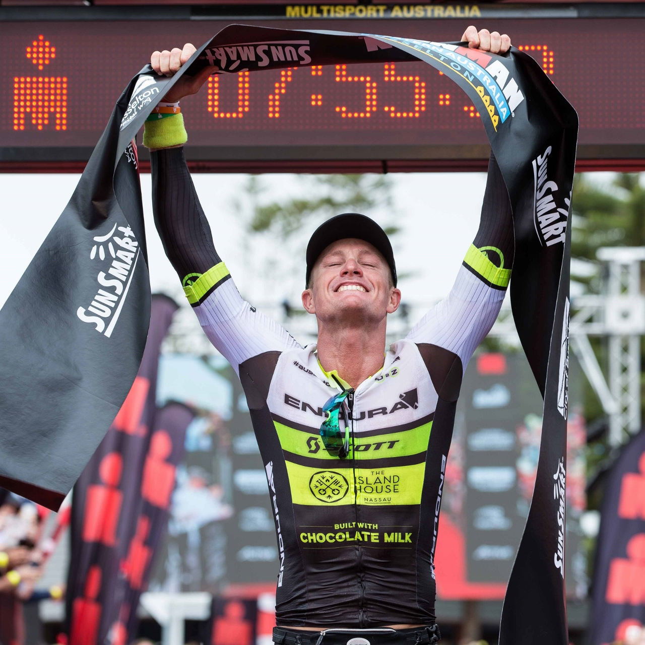 Luke McKenzie rode himself into the record books at Ironman Western Australia.