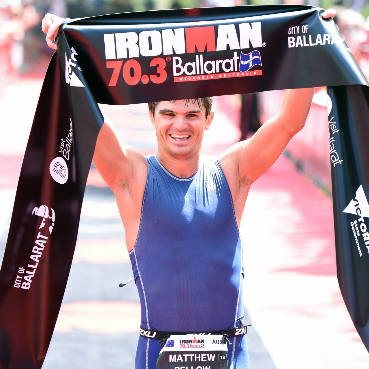 Matthew Pellow takes his maiden Ironman 70.3 win - Photo Credit: Delly Carr // IRONMAN Asia-Pacific