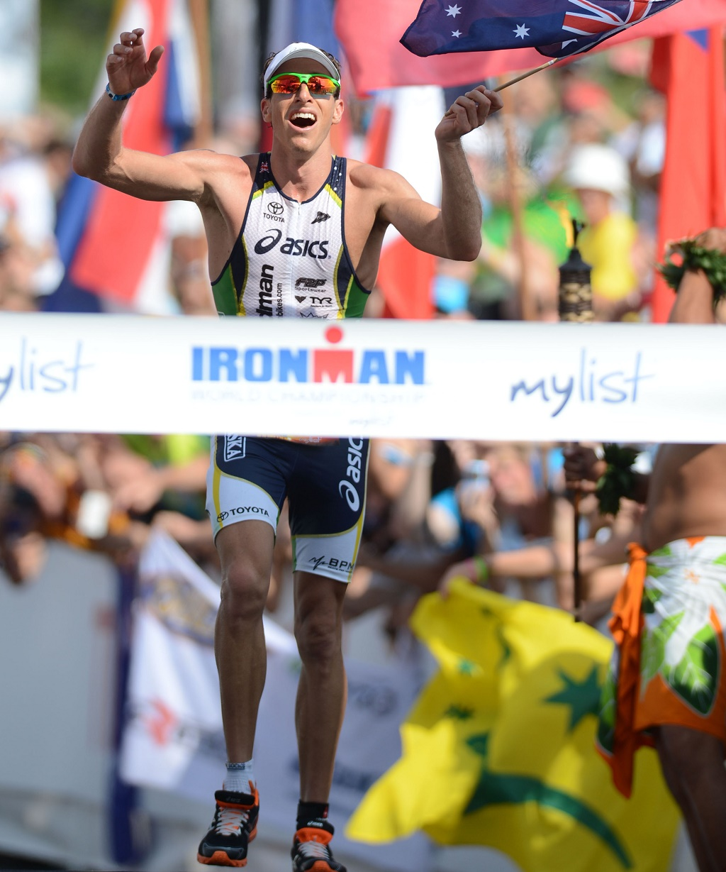Peter Jacobs AUST wins the Hawaiian Ironman Triathlon, Hawaiian Ironman Triathlon 2012, Kailua-Kona Hawaii, October 13 2012. Pic Credit : Delly / Sportshoot. Pic credit mandatory for free usage.