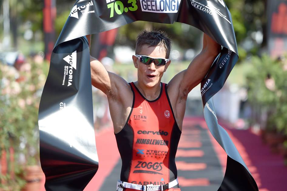 Jake Montgomery takes his first career Ironman 70.3 wi - Photo Credit Delly Carr/IRONMAN