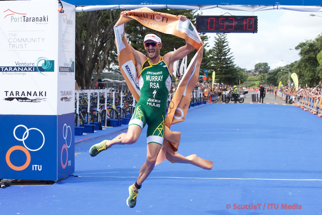 Richard Murray defends his New Plymouth title - Photo Credit: ScottieT / ITU
