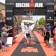 Patrick Lange of Germany celebrates his victory during the IRONMAN Texas North American Championships - Photo by Donald Miralle