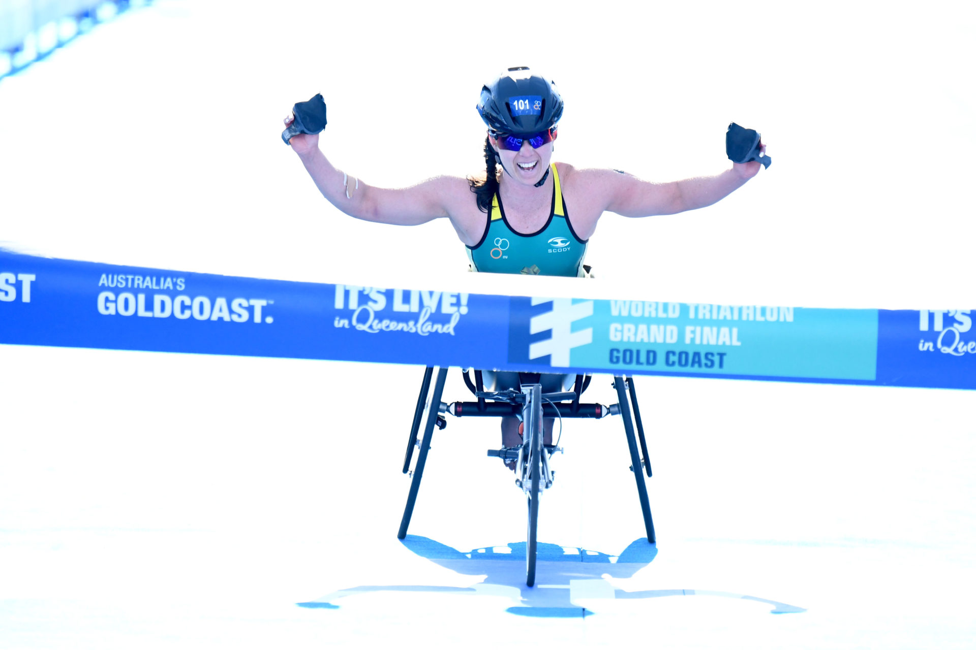 Emily Tapp successfully defended her world title from Rotterdam last year over Japan's Wakako Tsuchida and fellow Aussie Lauren Parker. Photo: Delly Carr