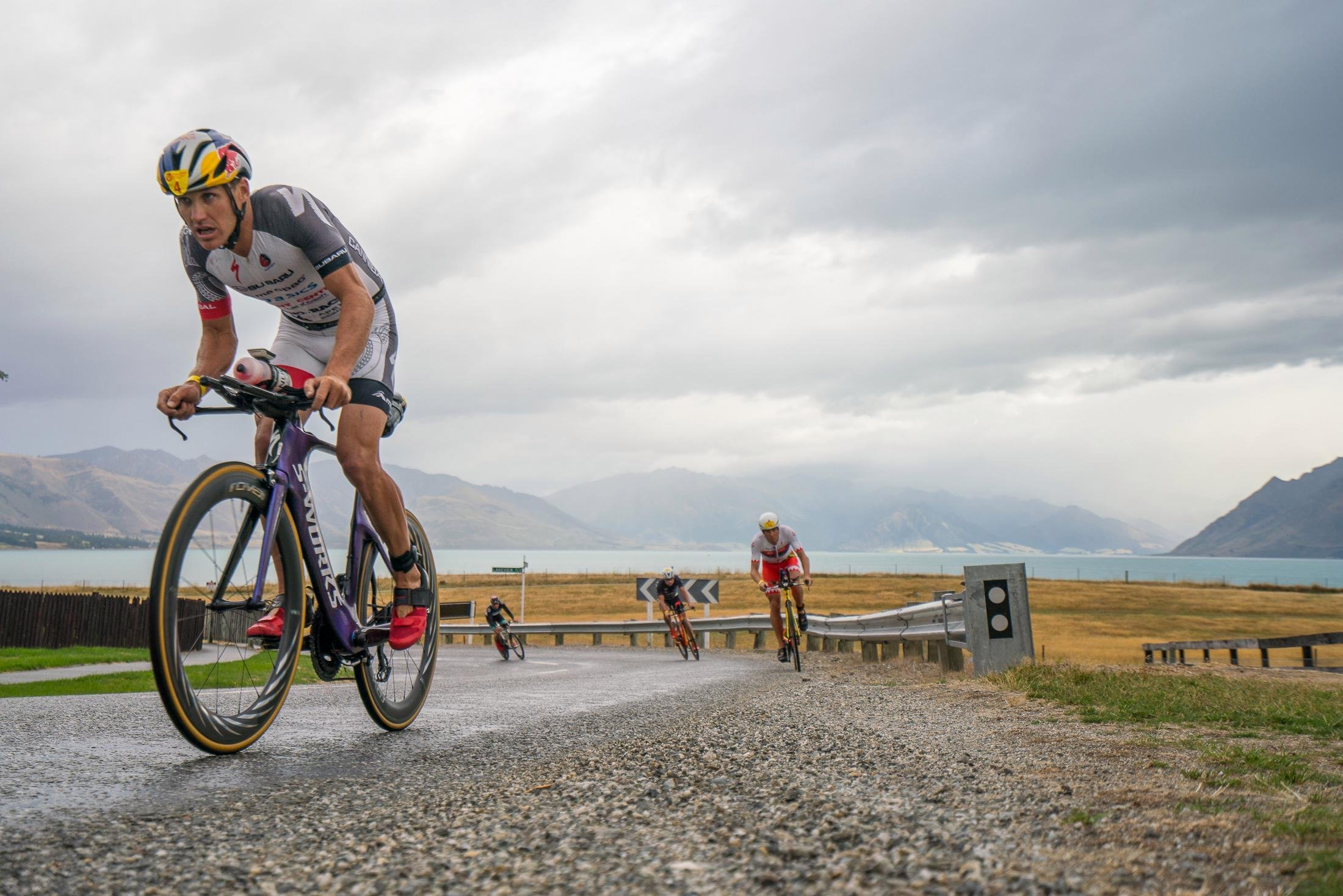 Braden Currie leading the pack at Challenge Wanaka 2018