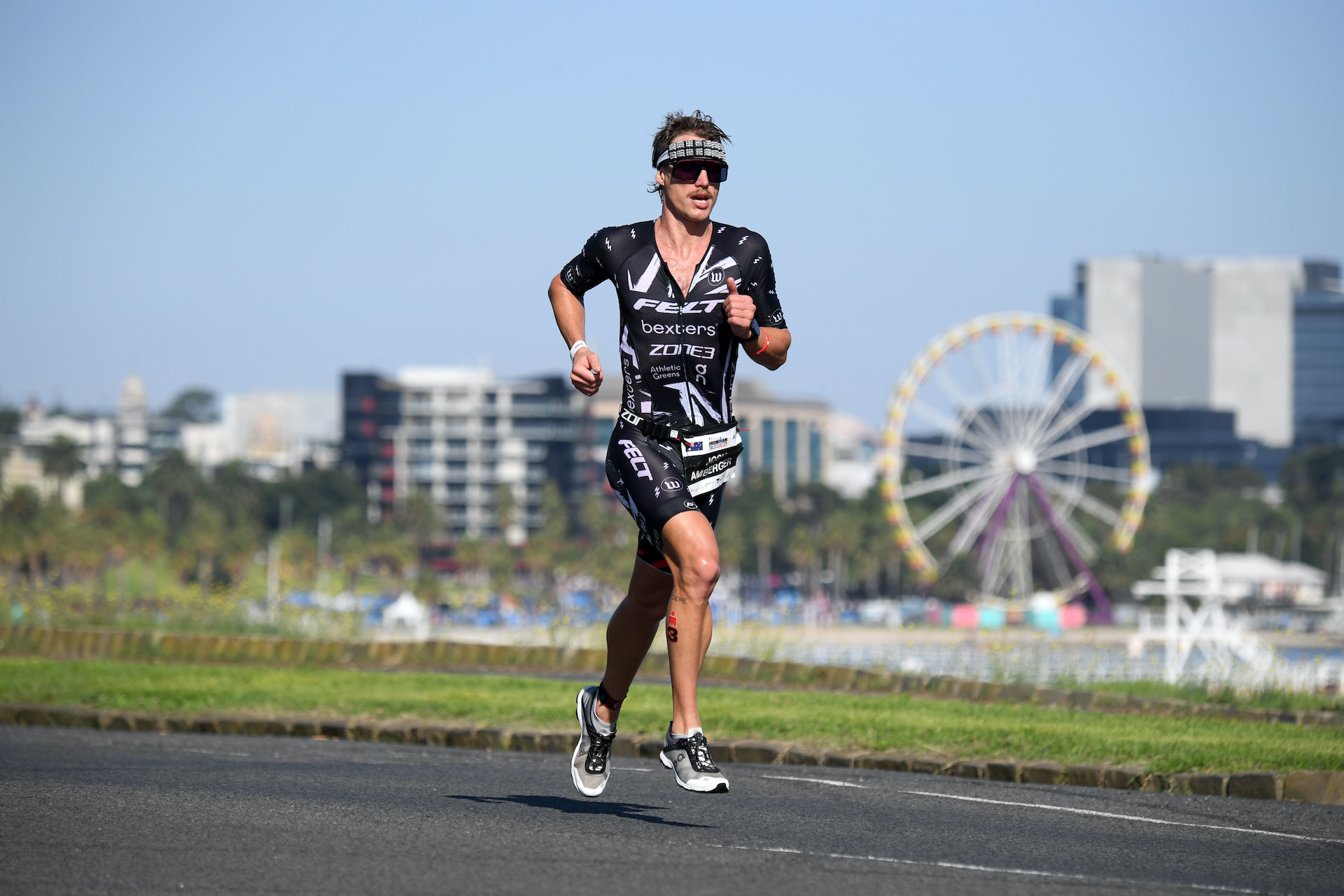 Josh Amberger at Geelong's 2020 Australian Long Course Championships and Ironman 70.3. (Photo: Delly Carr, Triathlon Australia)